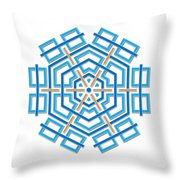 Abstract Hexagonal Shape Throw Pillow by Jozef Jankola