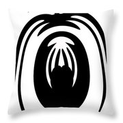 Abstract Jellyfish Black And White Digital Painting Throw Pillow by Georgeta Blanaru
