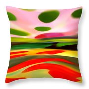 Abstract Landscape Of Happiness Throw Pillow by Amy Vangsgard