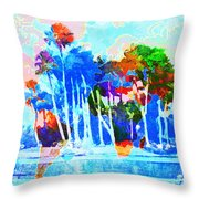 Abstract Map Throw Pillow by Gary Grayson