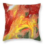 Abstract - Nail Polish - In A State Of Flux Throw Pillow by Mike Savad