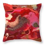 Abstract - Nail Polish - Love Throw Pillow by Mike Savad