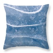 Abstract Patterns In The Ice During Throw Pillow by Kevin Smith