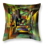Abstract Perspective E3 Throw Pillow by Greg Moores