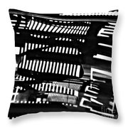 Abstract Reflection 3 Throw Pillow by Sarah Loft