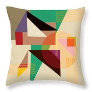 Abstract Shapes #4 Throw Pillow by Gary Grayson