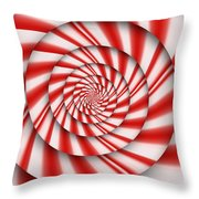 Abstract - Spirals - The Power Of Mint Throw Pillow by Mike Savad