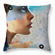 Abstract Tarot Art 019 Throw Pillow by Corporate Art Task Force