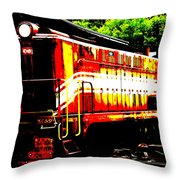 Abstract Train Engine Throw Pillow by Mark Moore