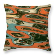 Abstract Water Reflection 5 Throw Pillow by Andrew  Hewett