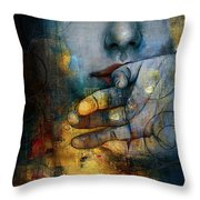 Abstract Woman 011 Throw Pillow by Corporate Art Task Force