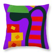 Abstraction 230 Throw Pillow by Patrick J Murphy