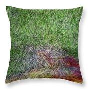 Abstraction Of Life Throw Pillow by Deborah Benoit