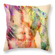 Abstractiv Body  Throw Pillow by Mark Ashkenazi