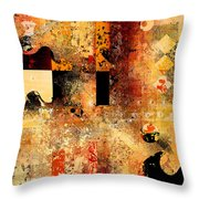 Abstracture - 103106046f Throw Pillow by Variance Collections