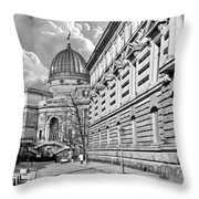 Academy Of Arts Dresden Throw Pillow by Christine Till