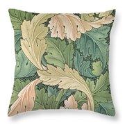 Acanthus Wallpaper Design Throw Pillow by William Morris