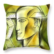 Accaunting  Throw Pillow by Leon Zernitsky