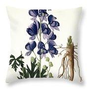 Aconitum Napellus Throw Pillow by LFJ Hoquart