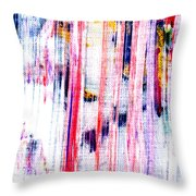 acryl  happy sally behind the shower curtain... boo Throw Pillow by Sir Josef  Putsche Social Critic