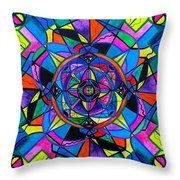 Activating Potential  Throw Pillow by Teal Eye  Print Store