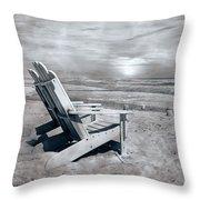 Adirondack Sunrise Topsail Island Throw Pillow by Betsy Knapp