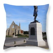Admiral Lord Nelson And Royal Garrison Church Throw Pillow by Terri Waters