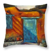 Adobe Charm Throw Pillow by Chris Brandley