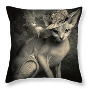 Adopted Throw Pillow by Cindy Grundsten