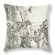 Adoration Of The Magi Throw Pillow by Giovanni Battista Tiepolo