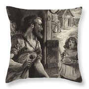 Advertisement for Cadburys Drinking Cocoa Throw Pillow by English School