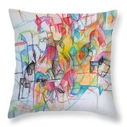Advertisement Of Self 1 Throw Pillow by David Baruch Wolk