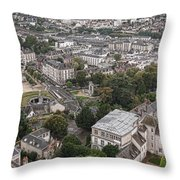 Aerial Chartres Throw Pillow by Olivier Le Queinec