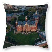 Aerial Of Woodburn Hall Throw Pillow by Dan Friend