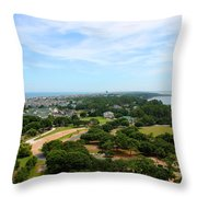 Aerial View Of Corolla North Carolina Outer Banks Obx Throw Pillow by Design Turnpike