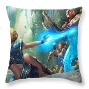 Aetherize Throw Pillow by Ryan Barger