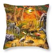 African Harmony Throw Pillow by Jan Patrik Krasny