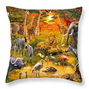 African Harmony Throw Pillow by Jan Patrik Krasny