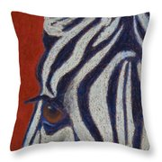 African Stripes Throw Pillow by Tracy L Teeter