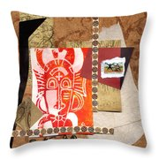 Afro Collage A Throw Pillow by Everett Spruill