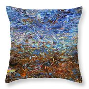 After a Rain Throw Pillow by James W Johnson