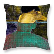 After The Dance Throw Pillow by David Patterson