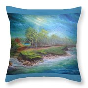 After The Storm Throw Pillow by Affordable Art Halsey
