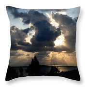 After The Storm Throw Pillow by John Chatterley