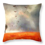 After The Storm Throw Pillow by Pixel Chimp