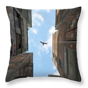 Afternoon Alley Throw Pillow by Cynthia Decker