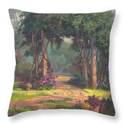 Afternoon Arbor Throw Pillow by Michael Humphries