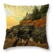 Afternoon At Bass Harbor Throw Pillow by Adam Jewell