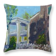 Afternoon At Carnton Plantation Throw Pillow by Susan E Jones