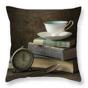 Afternoon Tea Throw Pillow by Amy Weiss
